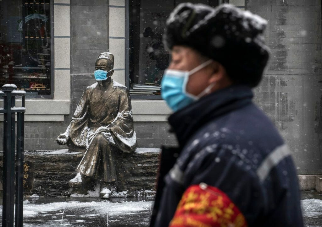 Beijing, China - where social distancing is working