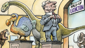 Moderates going Extinct
